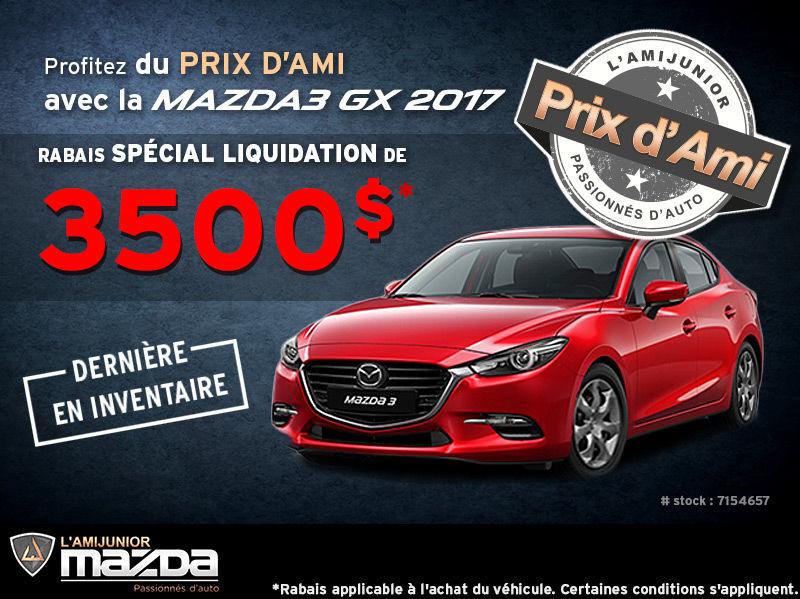 Prix d'Ami sur la Mazda3 GX 2017