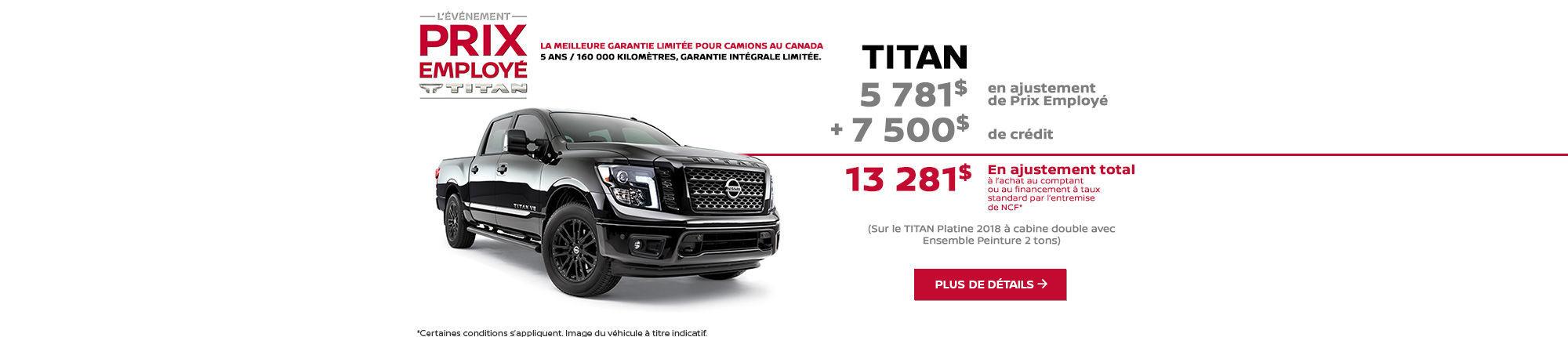 Obtenez le Nissan Titan 2018 aujourd'hui!