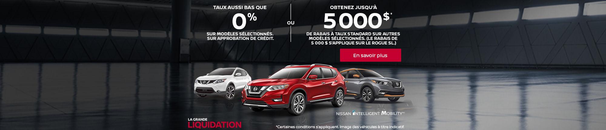 Vente liquidation Nissan