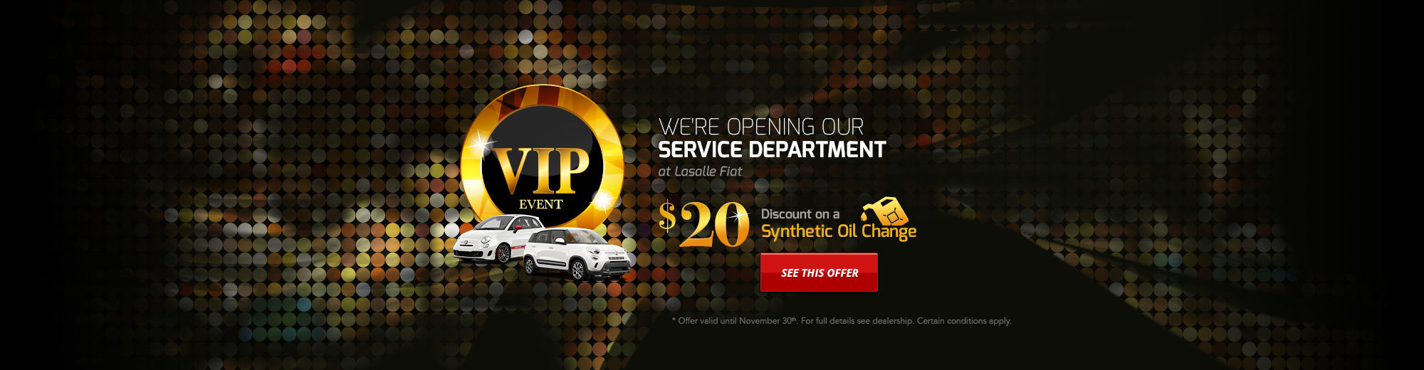 We're opening our Service Department