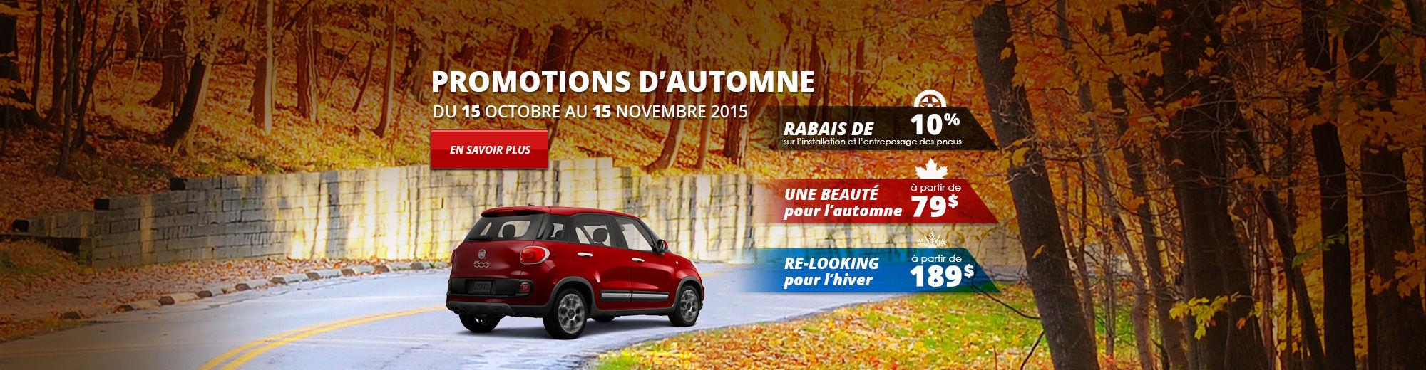 Promotions d'automne 2015