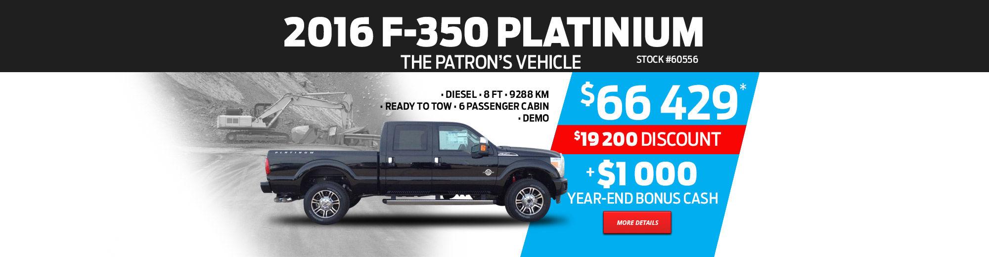 2016 Ford F-350 Platinum 6 passenger cabin