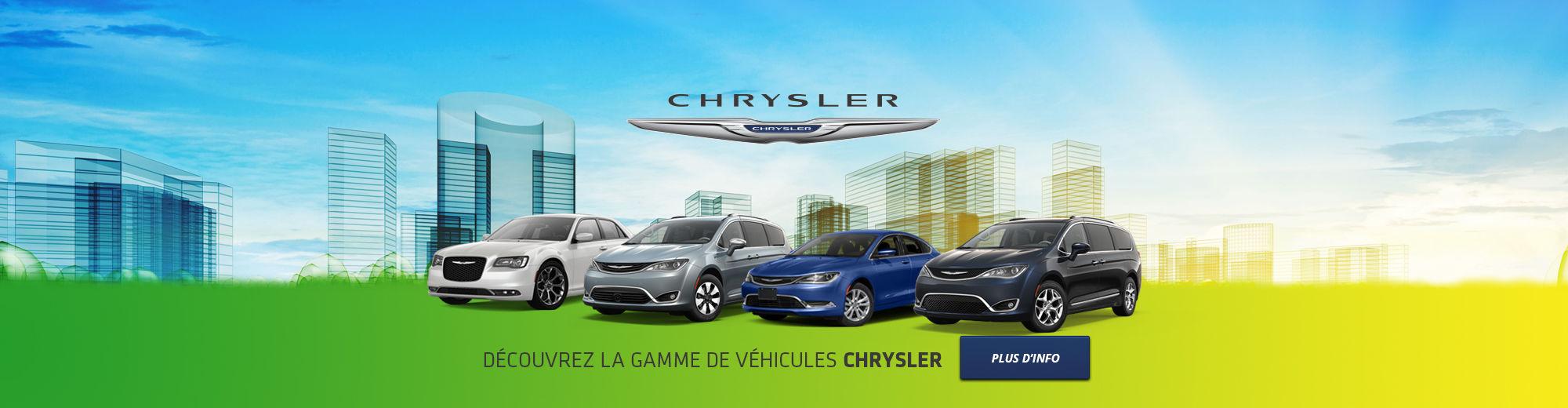 Découvrez la gamme de véhicules Chrysler