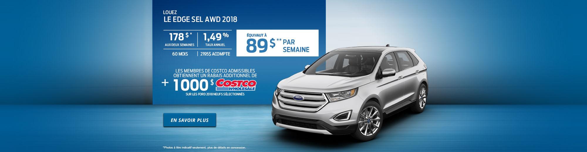 Ford Edge SEL AWD 2018