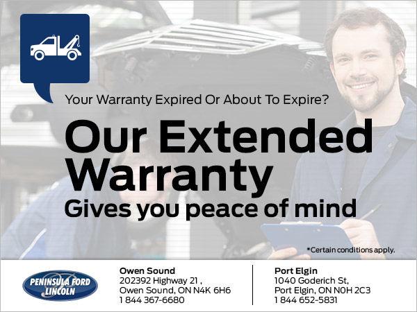 get our extended warranty at peninsula ford port elgin owen sound. Black Bedroom Furniture Sets. Home Design Ideas