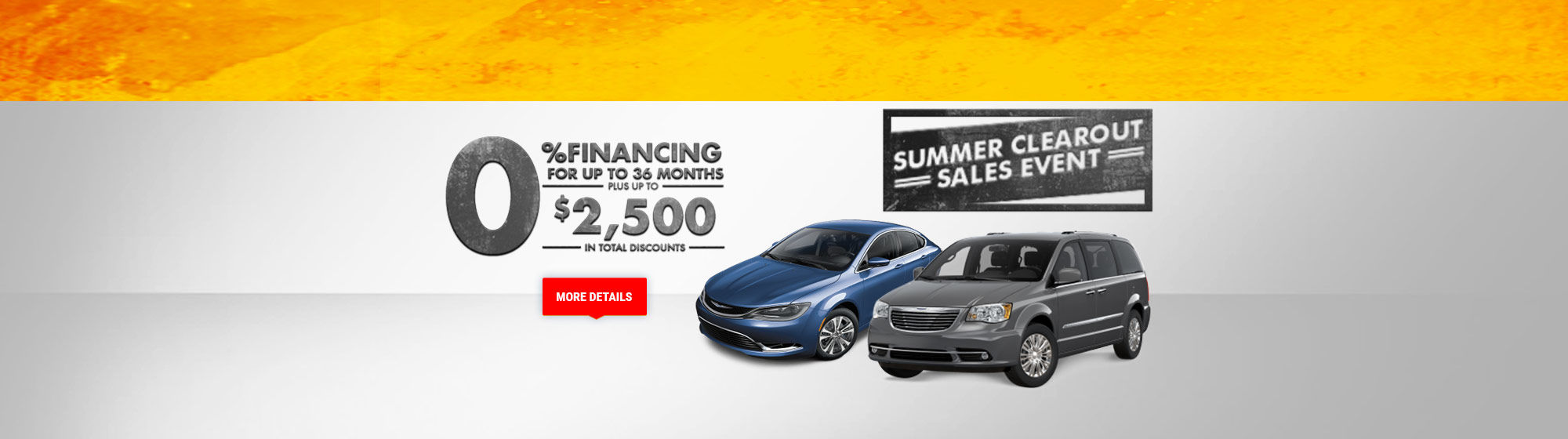Summer Clearout Sales Event - Chrysler