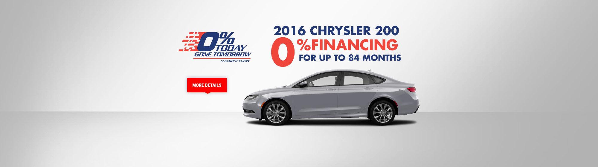 0% today gone tomorrow - Chrysler