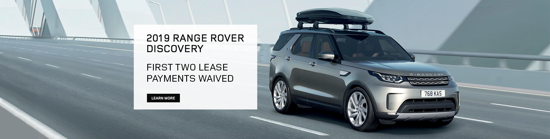 2019 Range Rover Discovery - First Two Lease Payments Waived