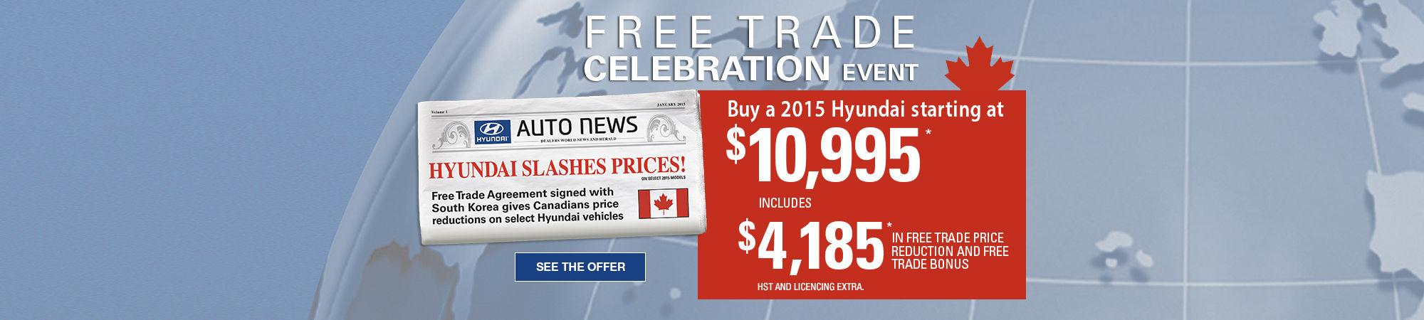 free trade celebration event
