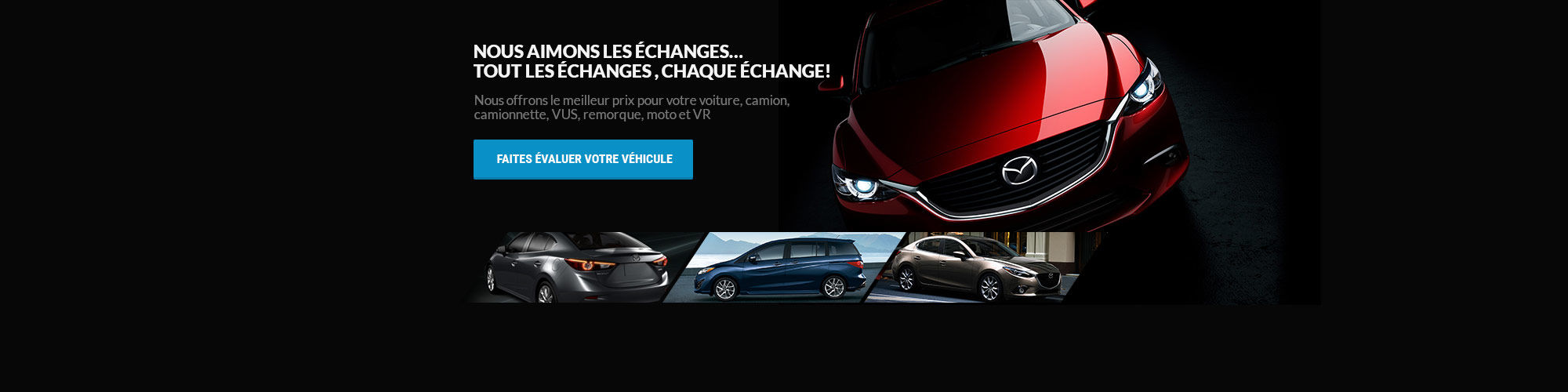 Évaluez votre véhicule (Nouveau site)