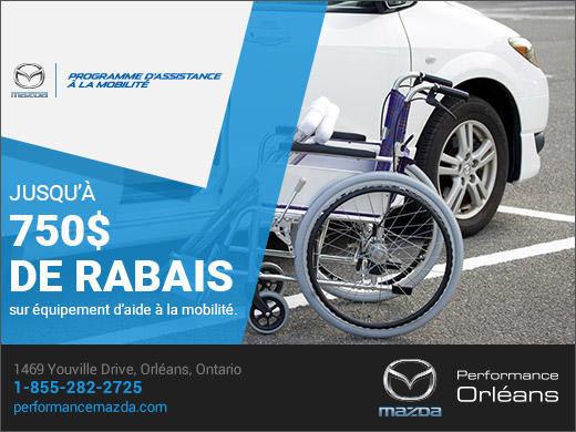 Programme d'assistance à la mobilité chez Performance Mazda à Ottawa