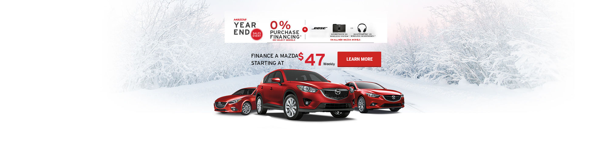 Mazda Year End Sales Event