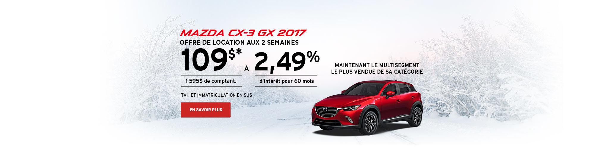 Prenez le contrôle - Mazda CX3