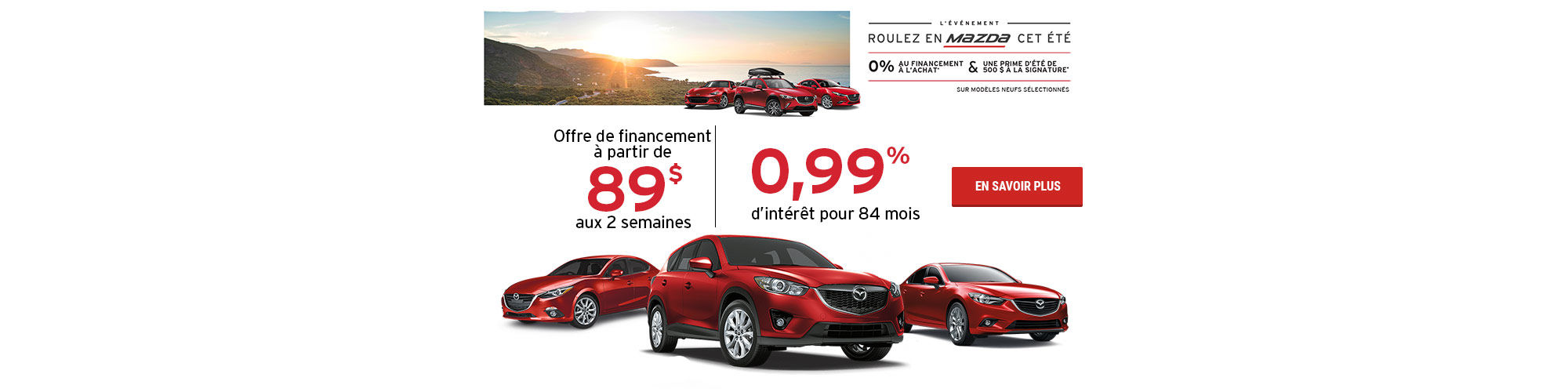 L'événement roulez en Mazda cet été