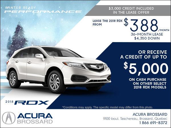 Lease The Acura RDX Acura Brossard - Best acura rdx lease deals