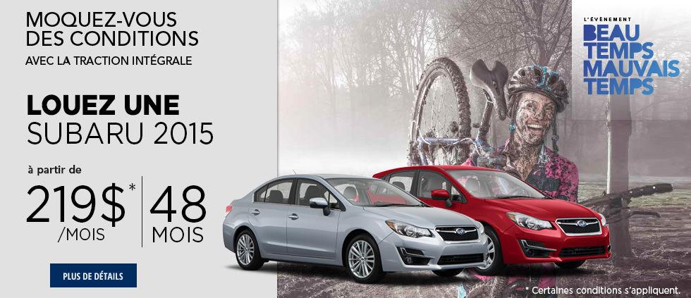 L'événement beau temps mauvais temps de Subaru Mai