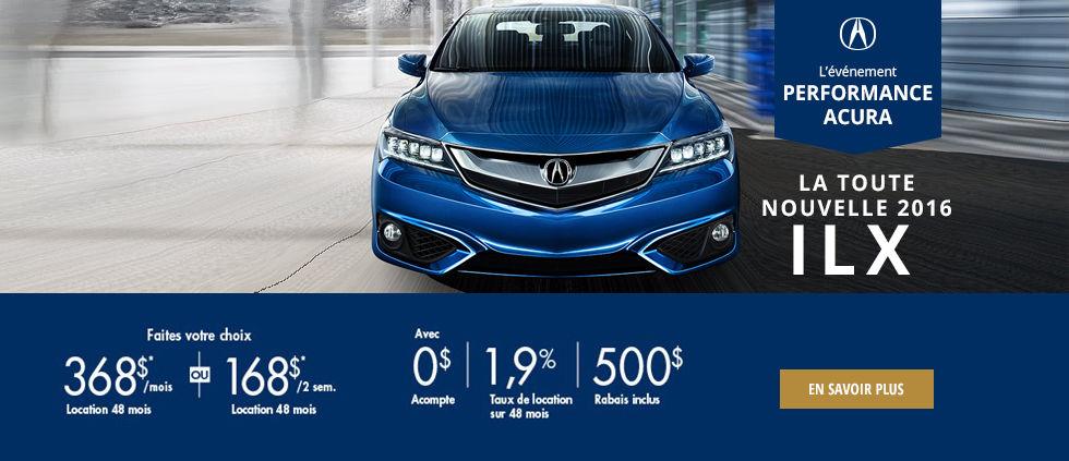 l'événement performance Acura - ILX