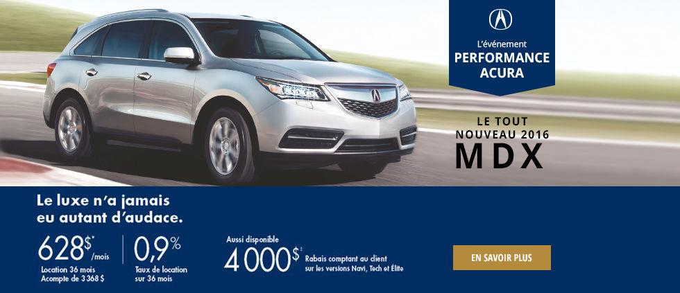 l'événement performance Acura - MDX