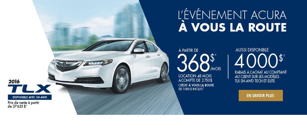 L'événement Acura à vous la route - TLX