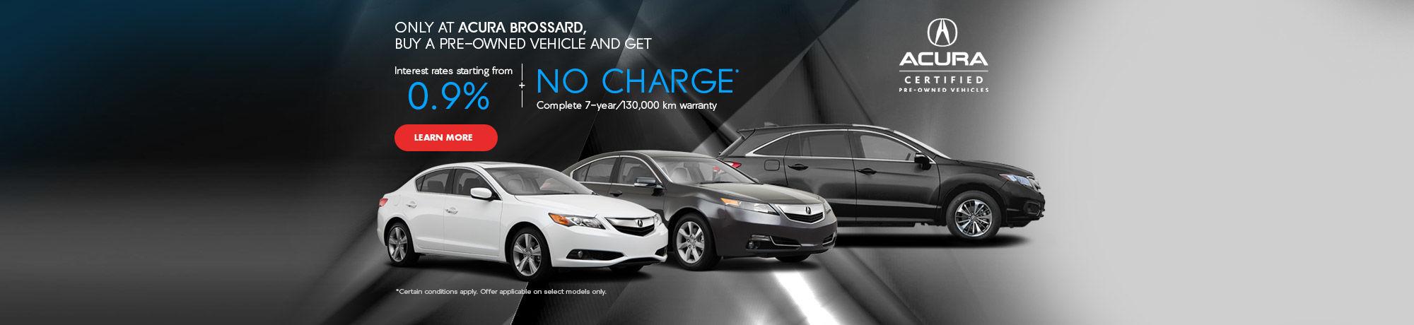 Financez un véhicule Acura d'occasion