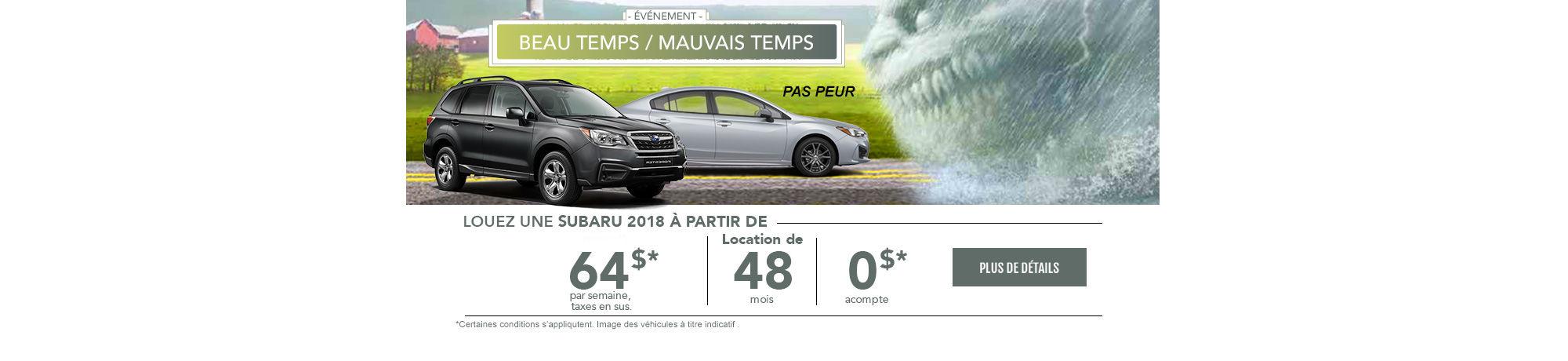 Événement mensuel chez Subaru (web)