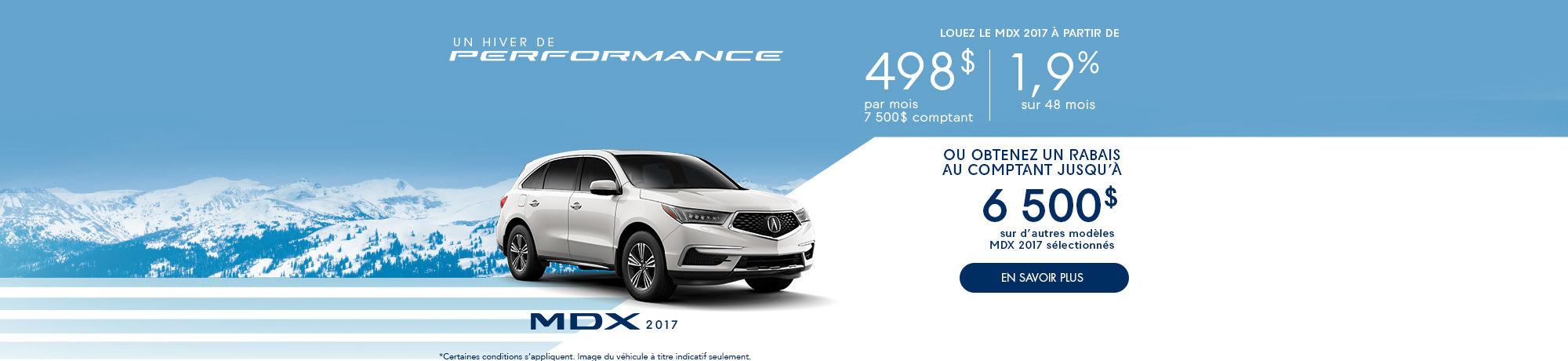 Un hiver de Performance avec Acura! MDX