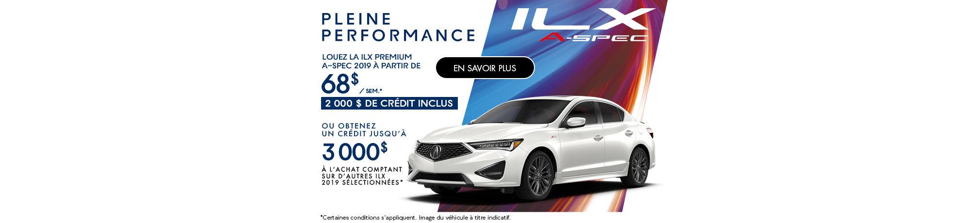 Le nouveau Acura ILX 2019