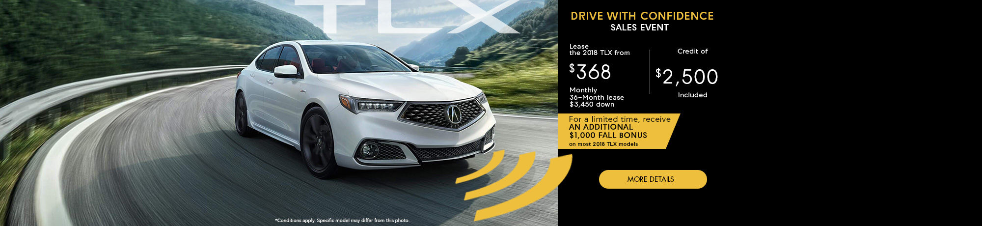 Drive With Confidence Sales Event - TLX - Octobre