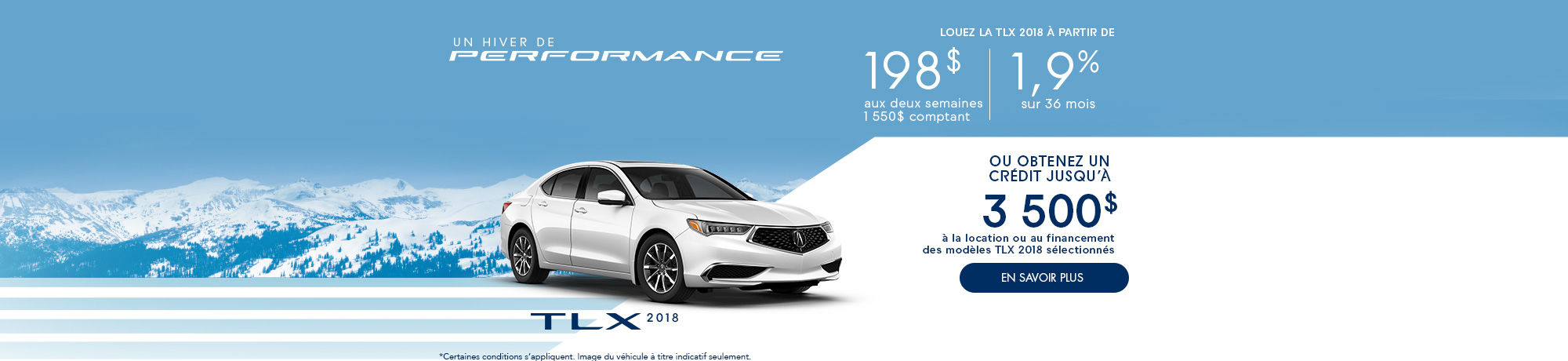 Un hiver de performance TLX