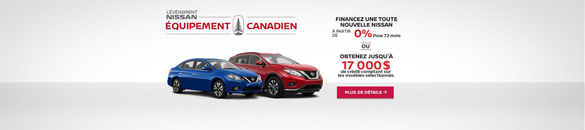 Événement Nissan Équipement Canadien! (mobile)