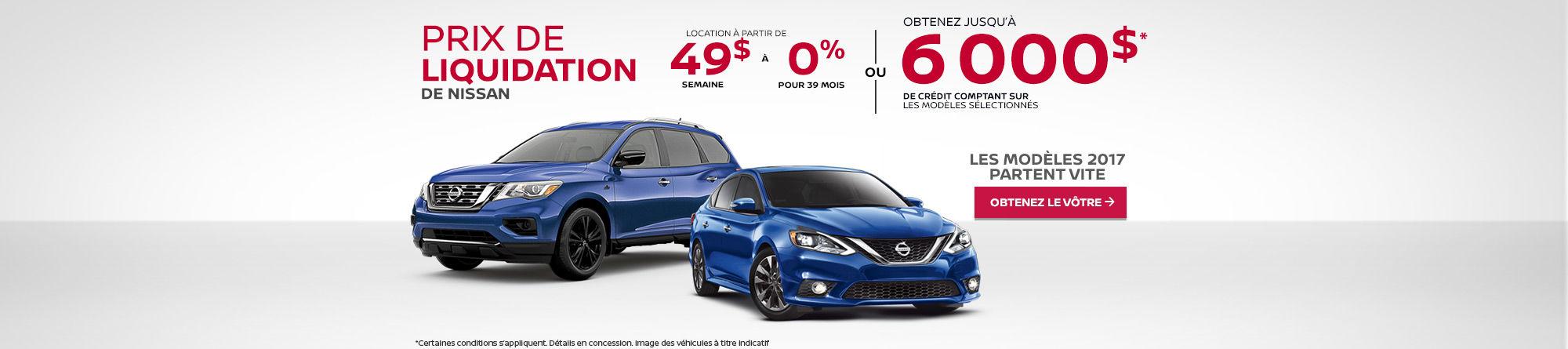 Prix de liquidation de Nissan