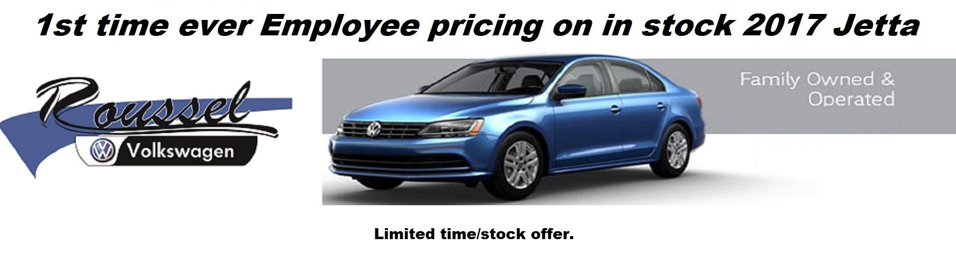 Employee pricing on remaining 17 Jettas