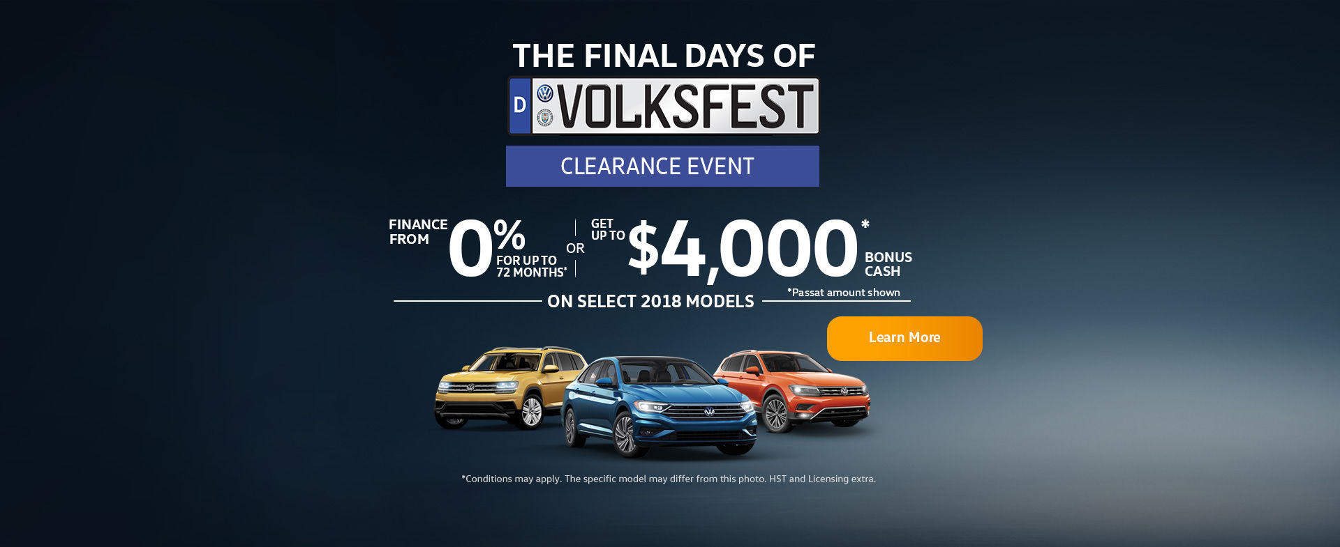The Volkswagen Monthly Sales Event (ON)