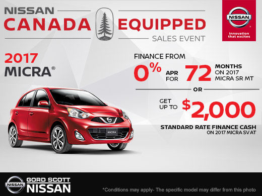 Get the 2017 Nissan Micra Today!
