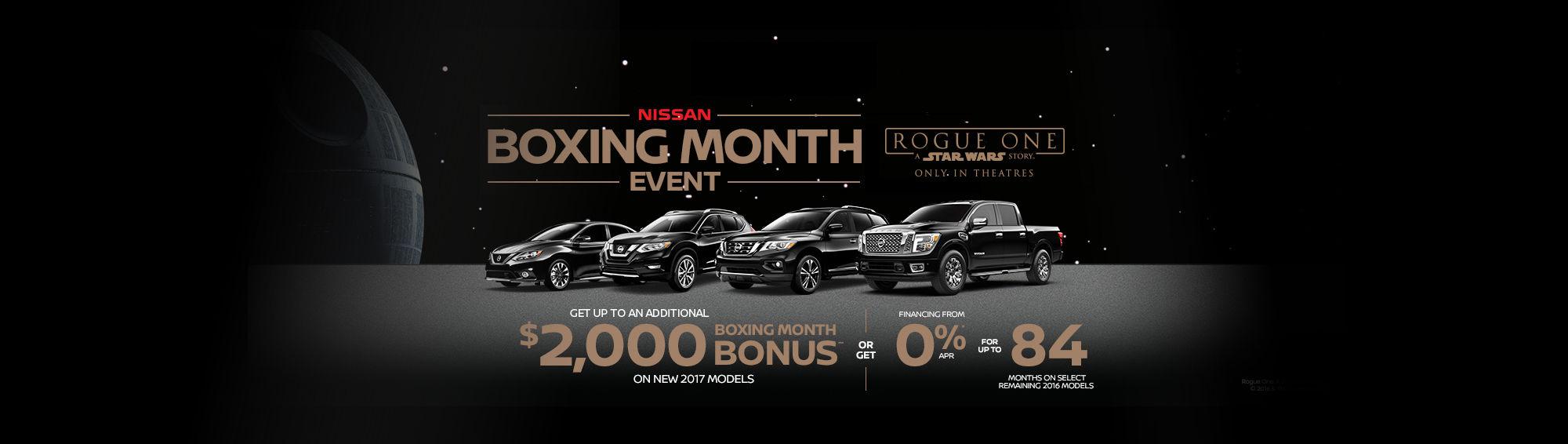 Nissan's Boxing Month Sales Event! (Desktop)