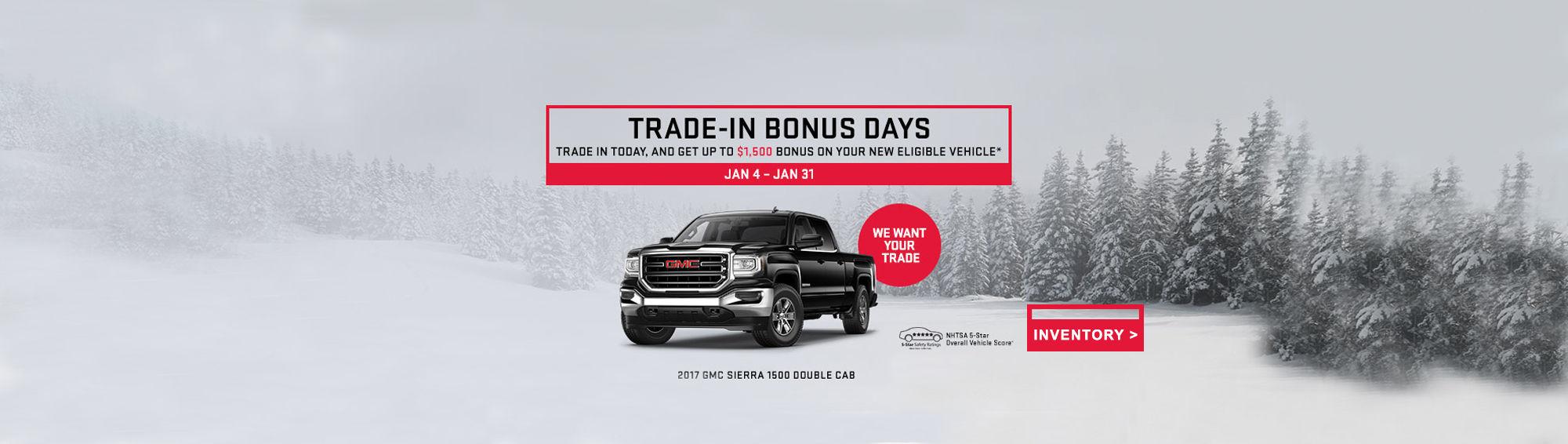 GMC Trade-In Bonus Days
