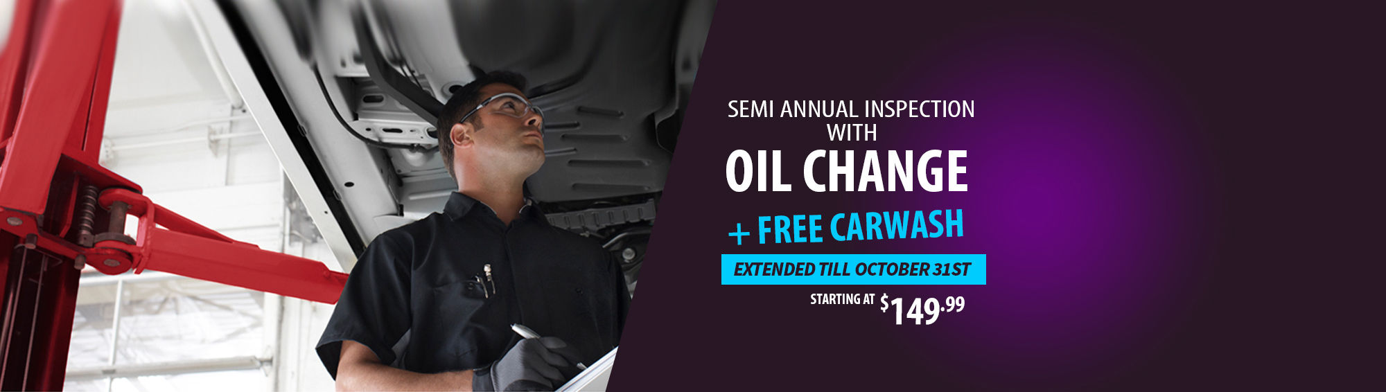 Semi Annual Inspection with Oil Change (Web)