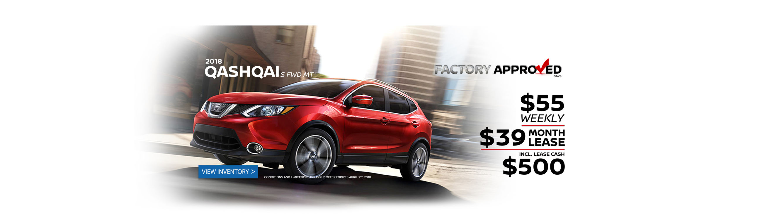 Qashqai - Factory Approved - Web Banner