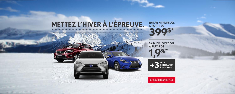 location à partir de 399$ - Spinelli Lexus Pointe-Claire