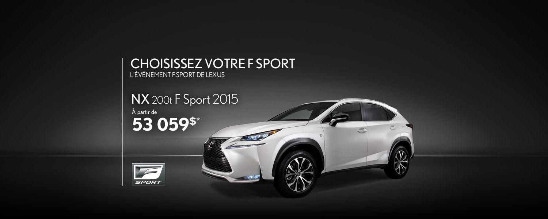 Lexus NX 2015 - Promotion Avril