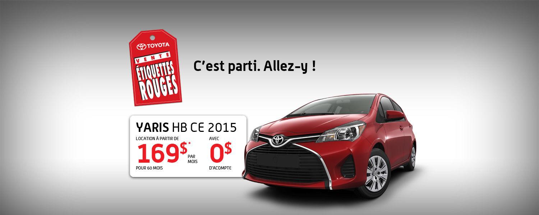 Toyota Yaris 2015 - Toyota Avril