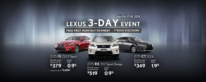 Lexus 3-Day Event