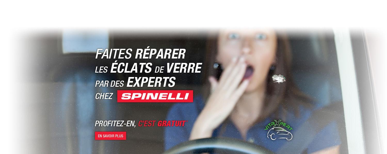 Faites réparer les éclats de verre par des experts chez Spinelli Toyota