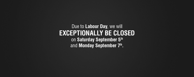 Labor Day 2015 Schedule
