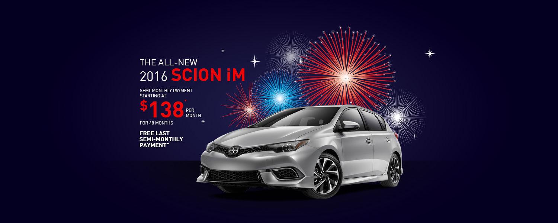 Drive the all-new 2016 Scion iM