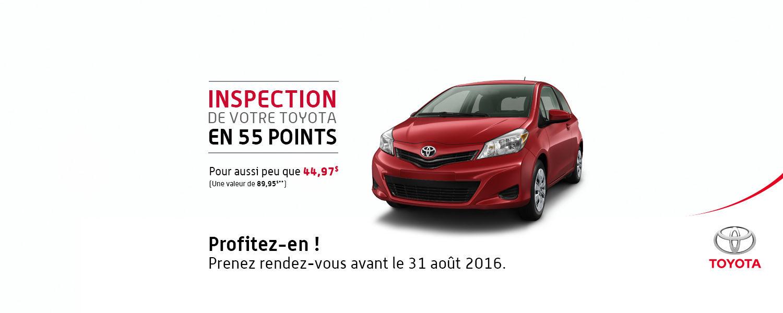 Promo service juillet - Inspection en 55 points