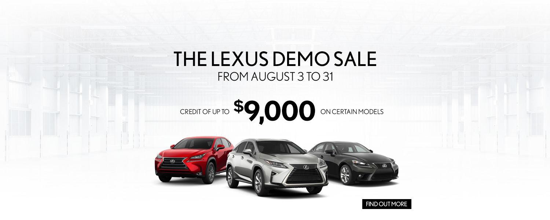The Lexus Demo Sale
