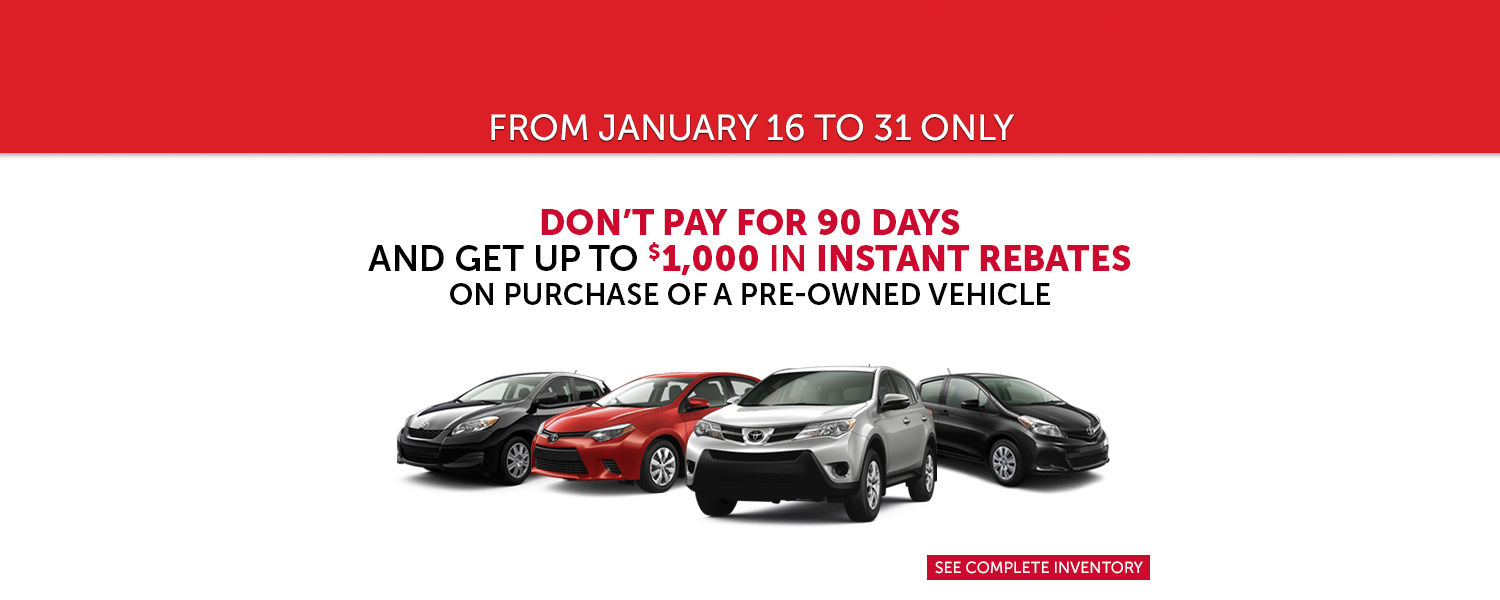 Up to $1,000 in Instant Rebates