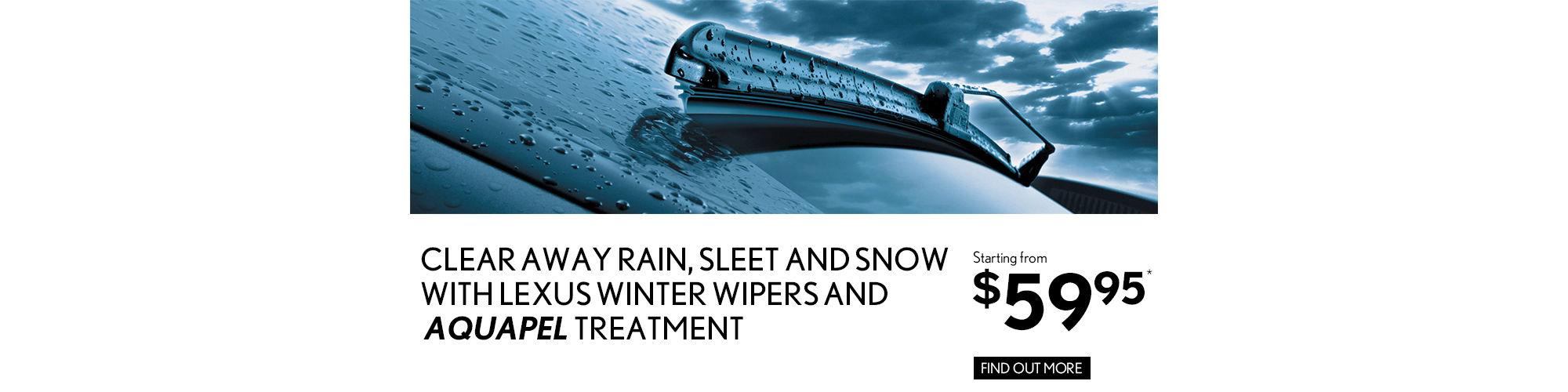 Aquapel and Winter Wipers