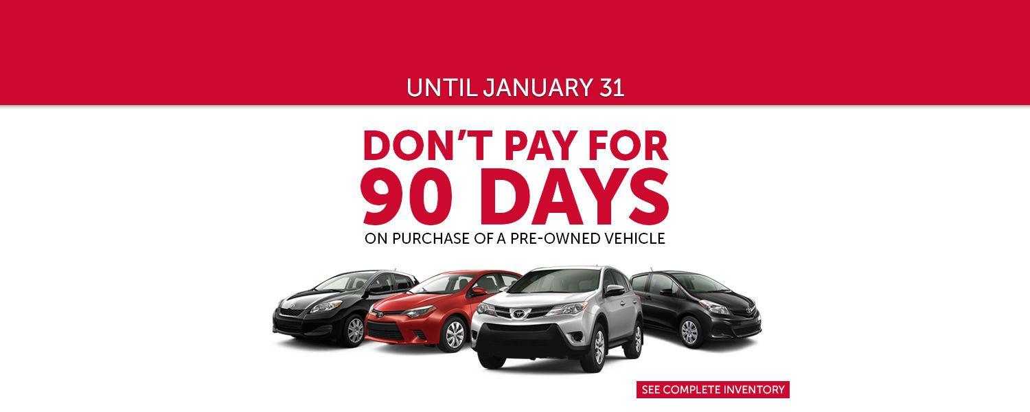 Pre-Owned - Toyota Lachine - January